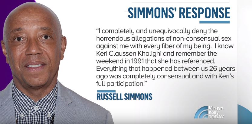 Russell Simmons' response to sexual assault allegations