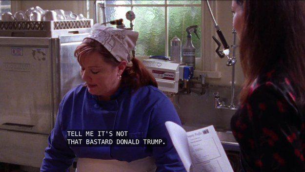 Sookie talking to Lorelai on Gilmore Girls