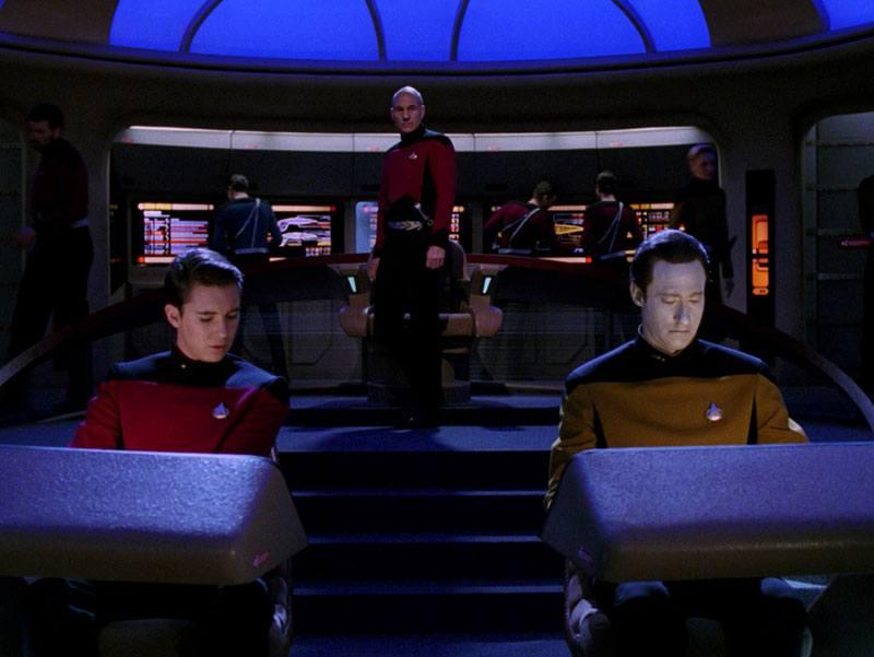 "The crew in ""Yesterday's Enterprise"""