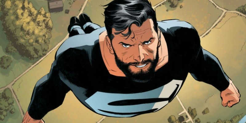 Superman dons this black suit in Superman: Rebirth