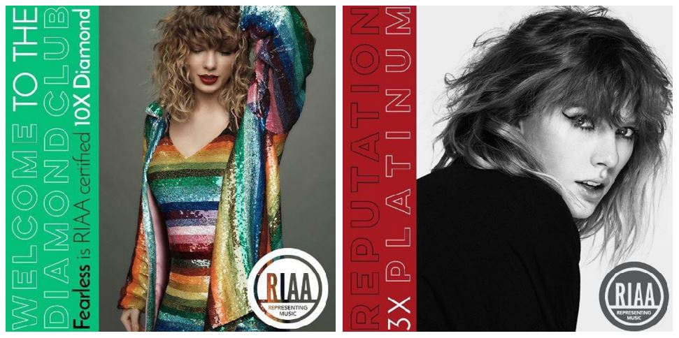 Taylor Swift Fearless and Reputation albums