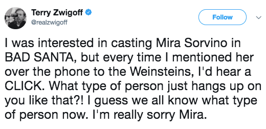 Terry Zwigoff says he was discouraged from hiring Mira Sorvino