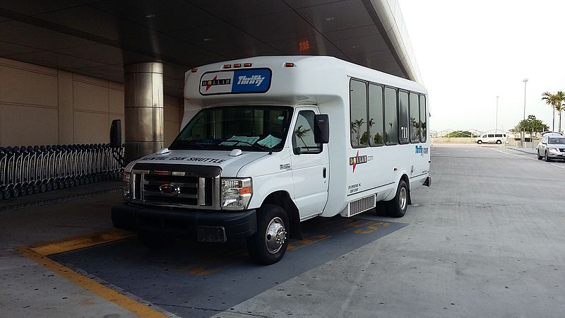 thrifty rental car bus