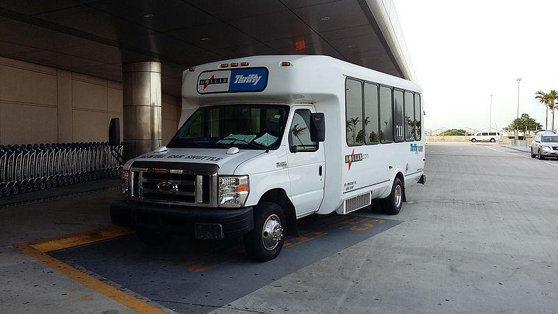 thrifty rental car bus
