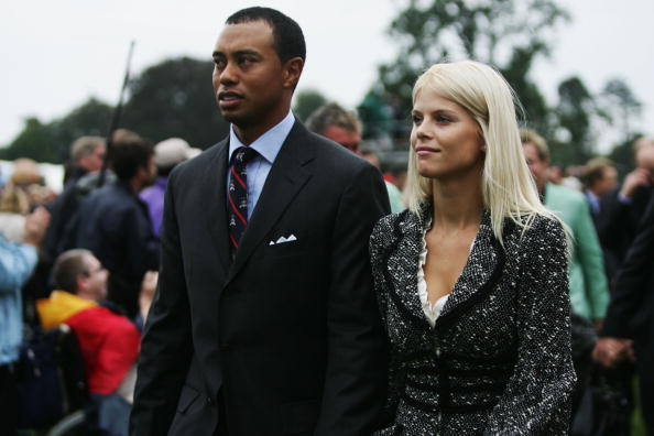 Elin and Tiger Woods