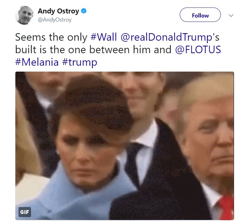 "Melania Trump ""liked"" this tweet making fun of her marriage."