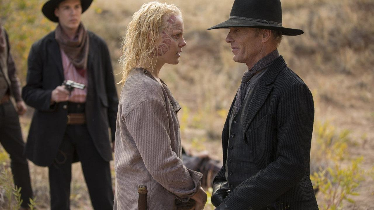 Ed Harris and Ingrid Bolsø Berdal in Westworld Season 2