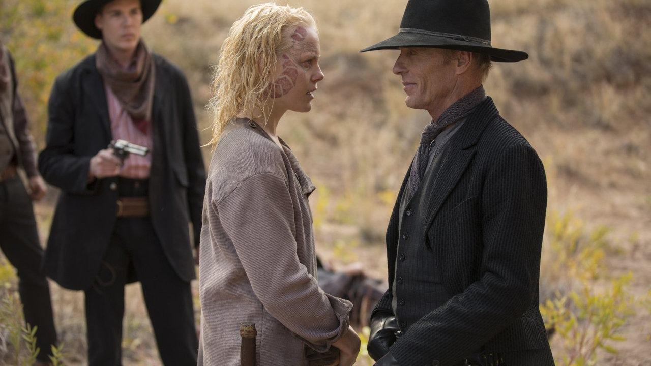 Ed Harris and Ingrid Bolsø Berdal in Westworld Season 2