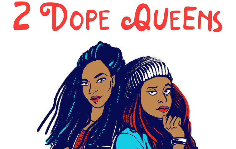 2 Dope Queens podcast logo