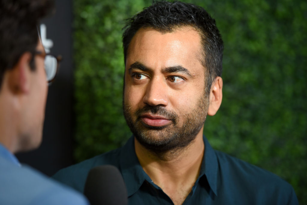 Actor Kal Penn poses in the VIP Lounge during the 2017 Global Citizen Festival in Central Park