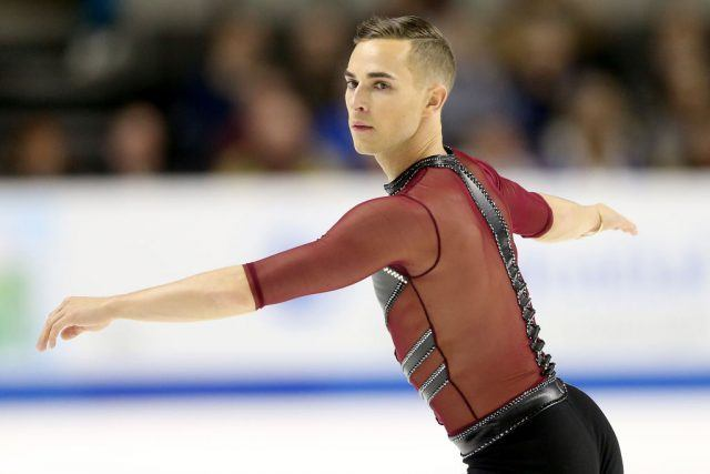 Adam Rippon competes in the Men's Short Program.