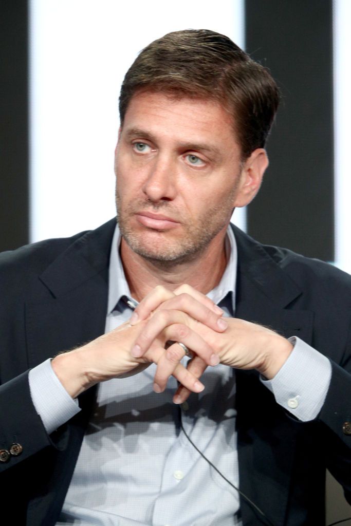 Host Mike Greenberg of 'Get Up' speaks onstage during the ESPN portion of the 2018 Winter Television Critics Association Press Tour