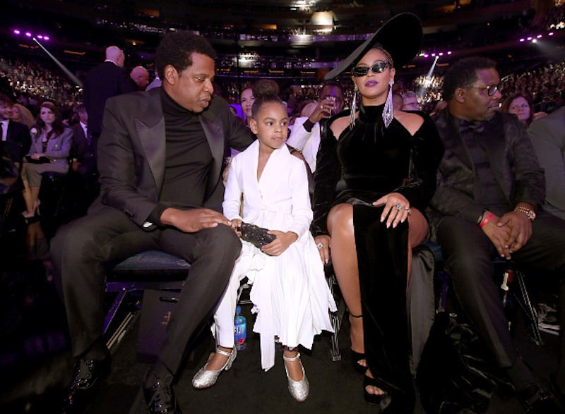 Jay-Z, Blue Ivy and Beyonce Knowles