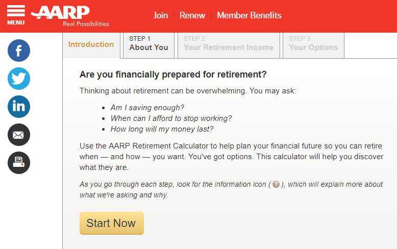 AARP Retirement Calculator
