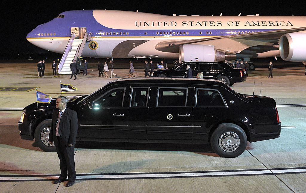 US President Barack Obama's limousine