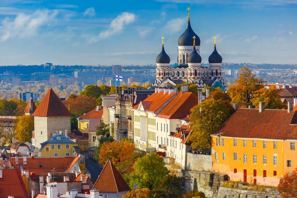 View from the tower of St. Olaf church, Tallinn, Estonia