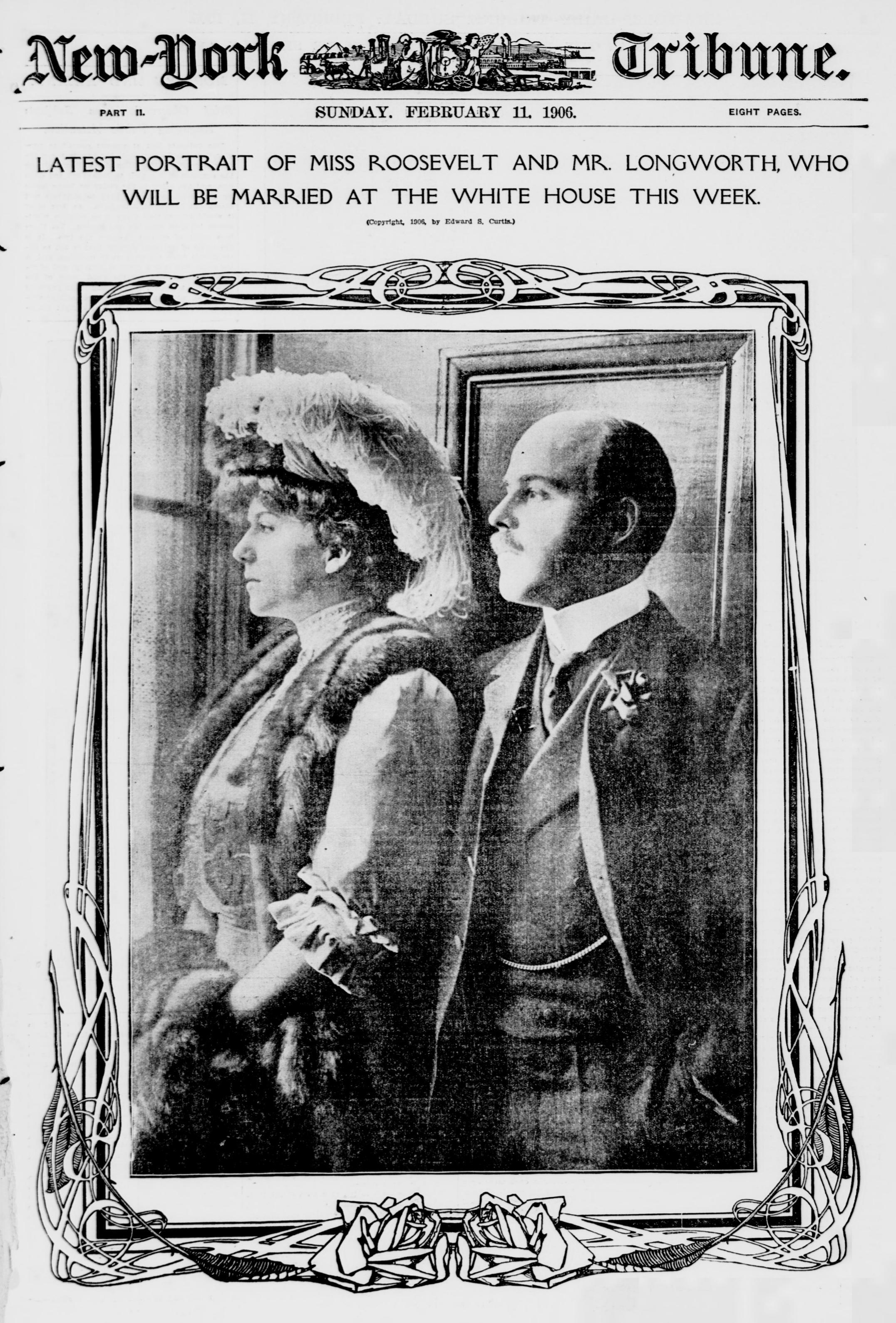 Alice Lee Roosevelt andNicholas Longworth