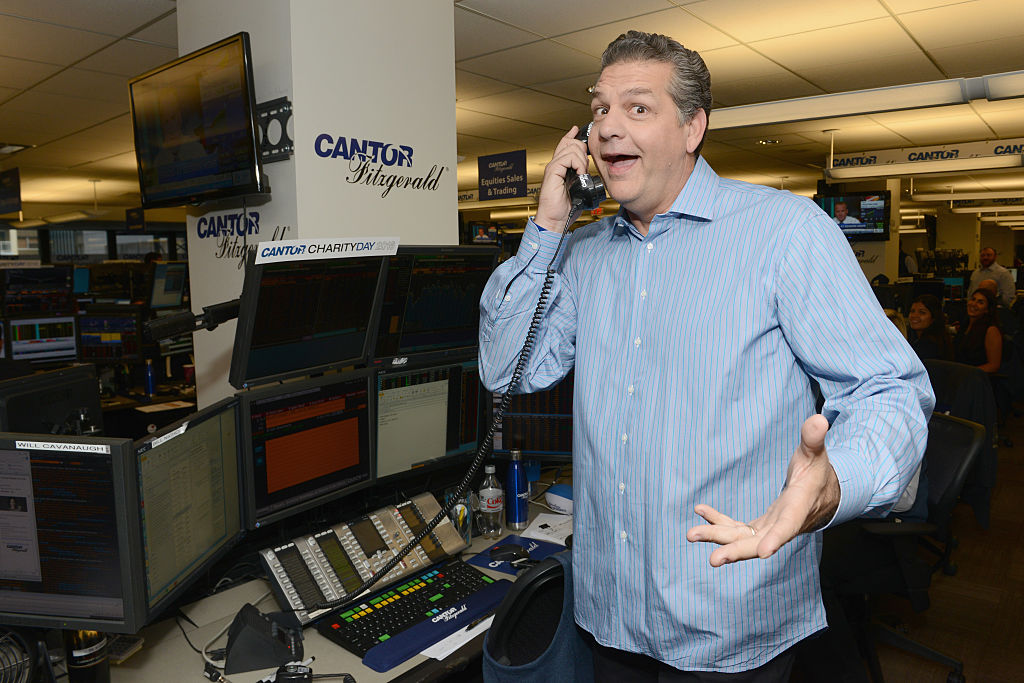 Sports media personality Mike Golic attends the Annual Charity Day hosted by Cantor Fitzgerald