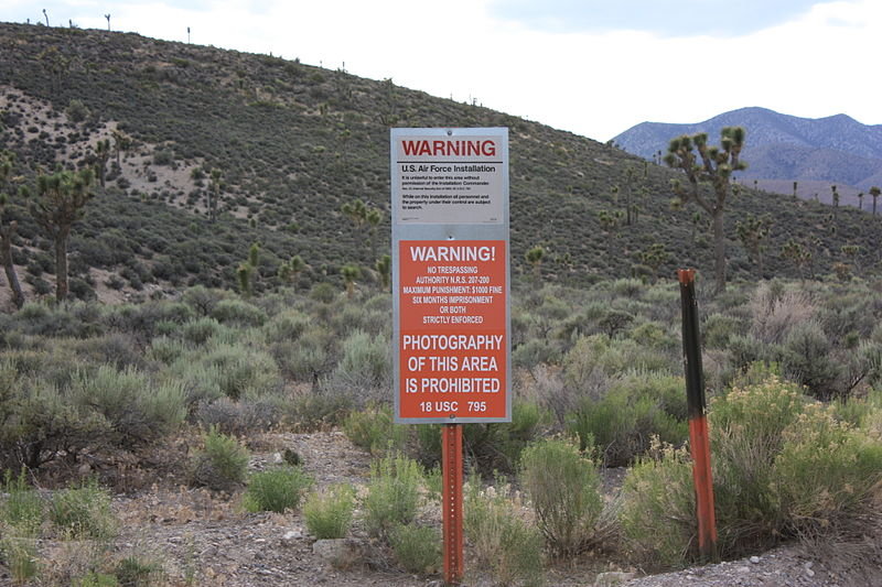 Area 51 no entry warning sign