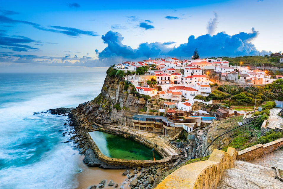 Azenhas do Mar, Portugal coastal town.