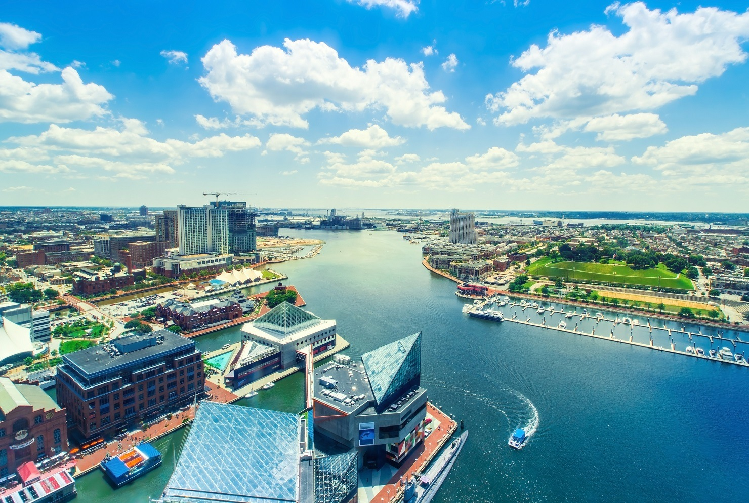 Inner Harbor of Baltimore, Maryland.