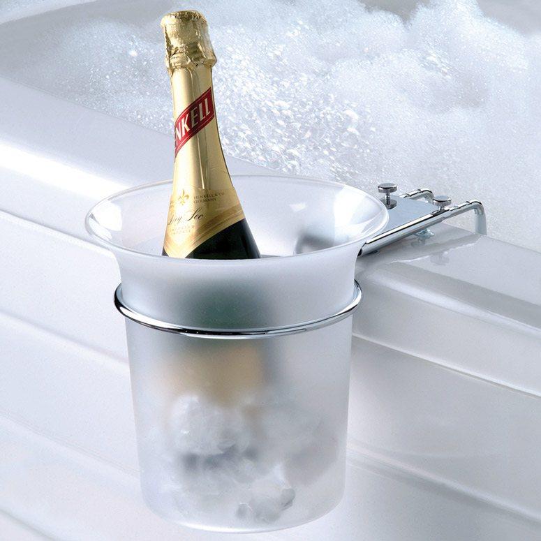 The Bathtub Champagne Chiller by Hammacher Schlemmer