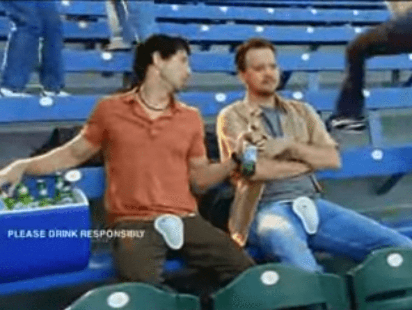 Beer superbowl commercial protective cup