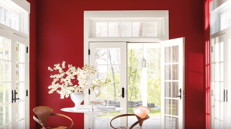 Benjamin Moore Caliente red paint