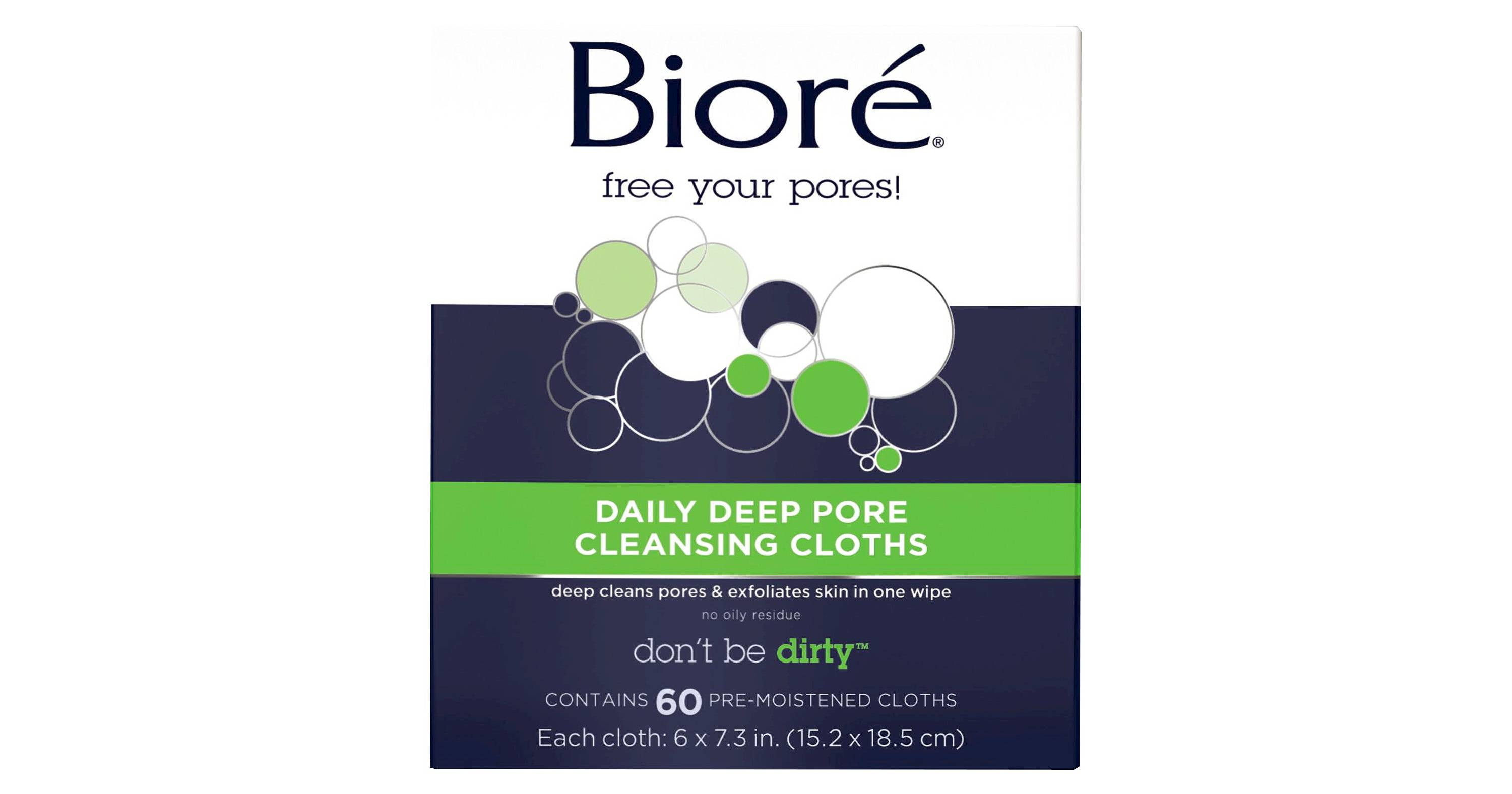 Biore face wipes