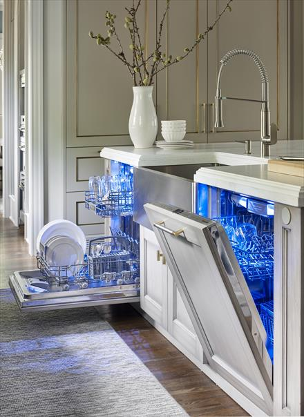 Blue light dishwasher Thermador