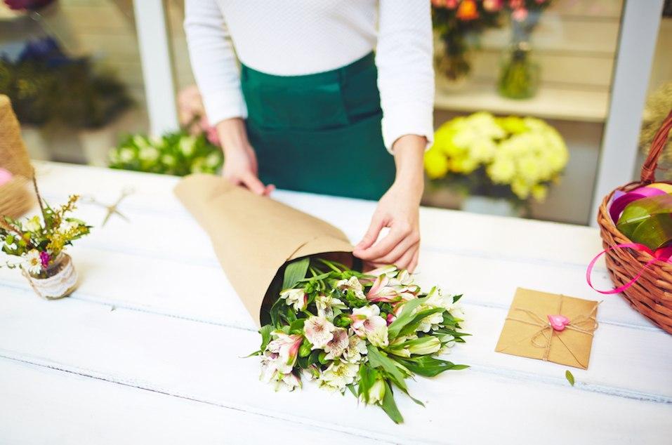 Bouquet of white amaryllises