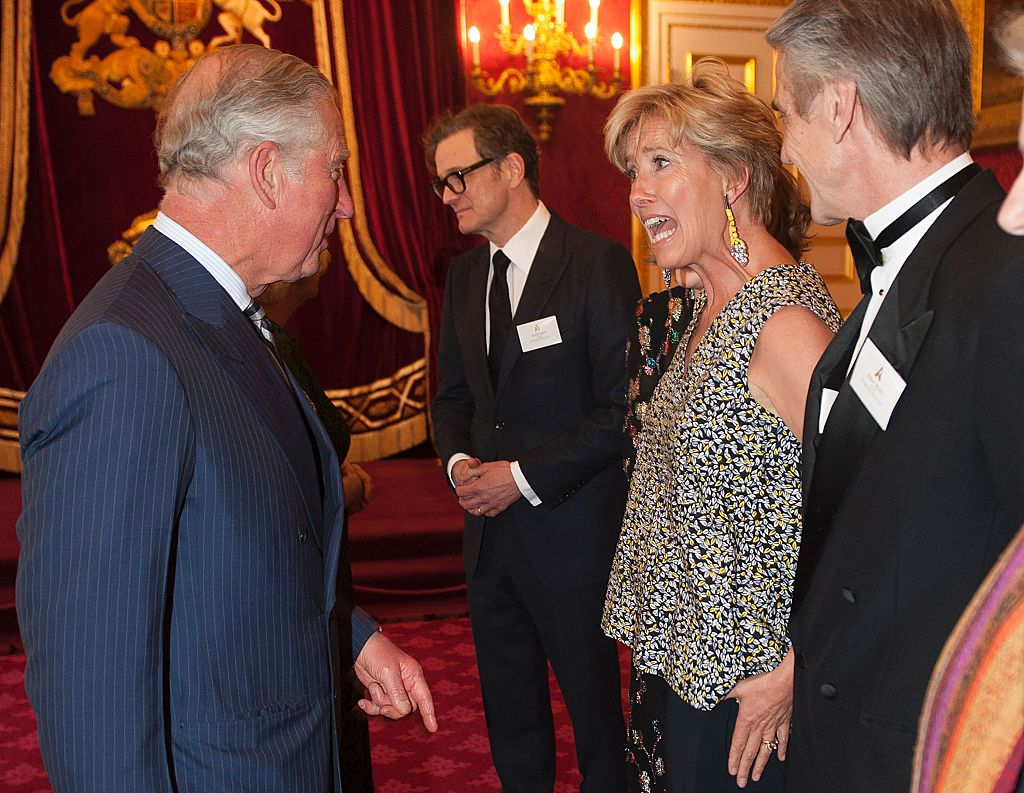 Britain's Prince Charles, Prince of Wales speaks to British actress Emma Thompson