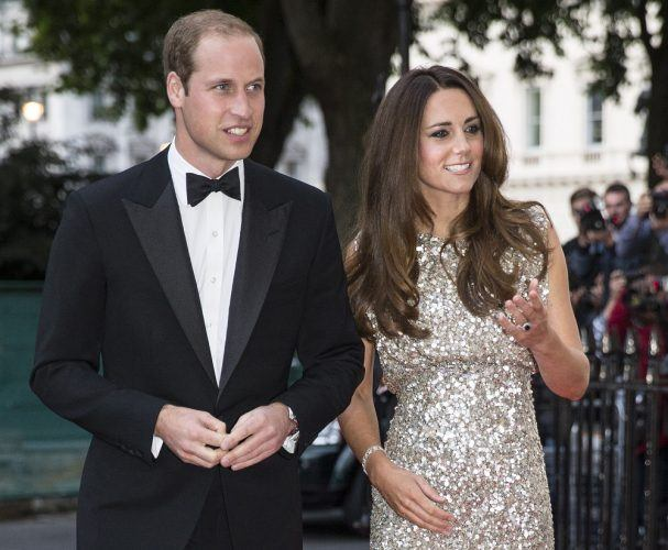 Britain's Prince William, Duke of Cambridge (L), and his wife Catherine, Duchess of Cambridge
