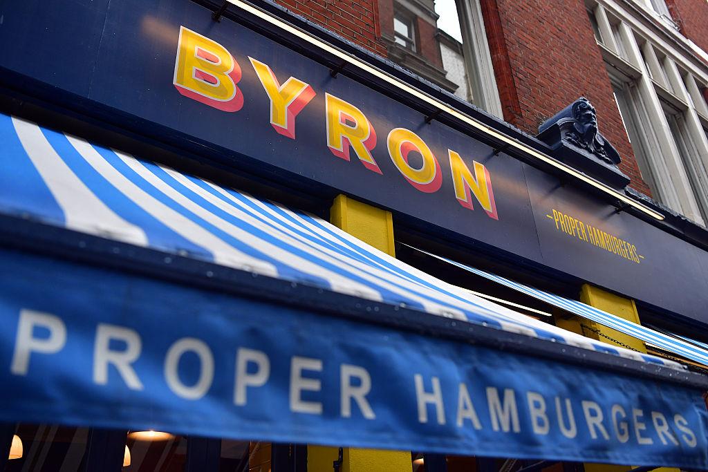 A Byron burger restaurant sign