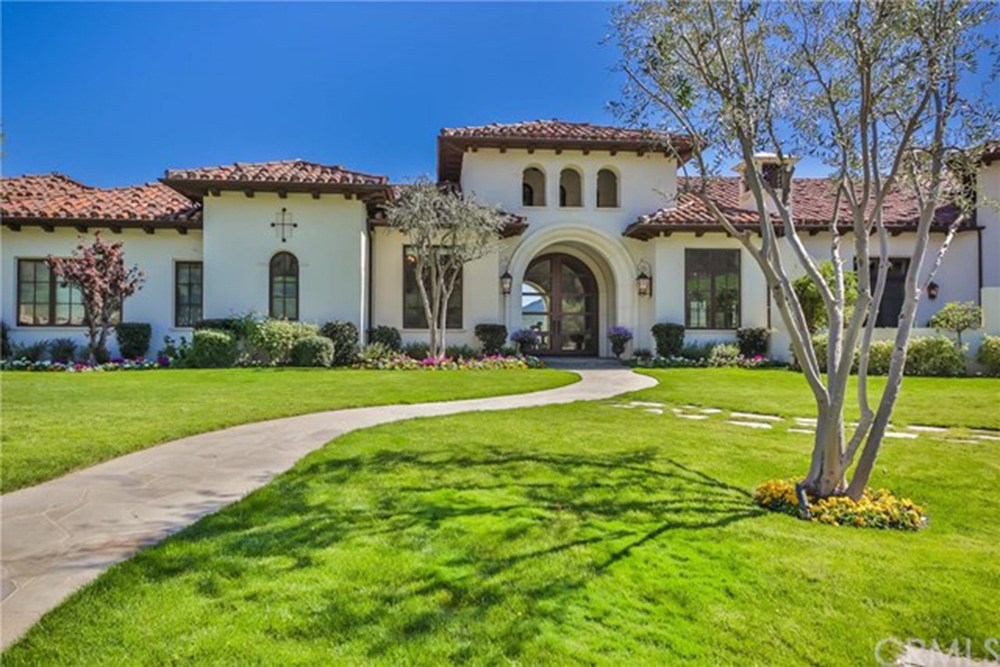 Front of Britney Spears' spanish style home