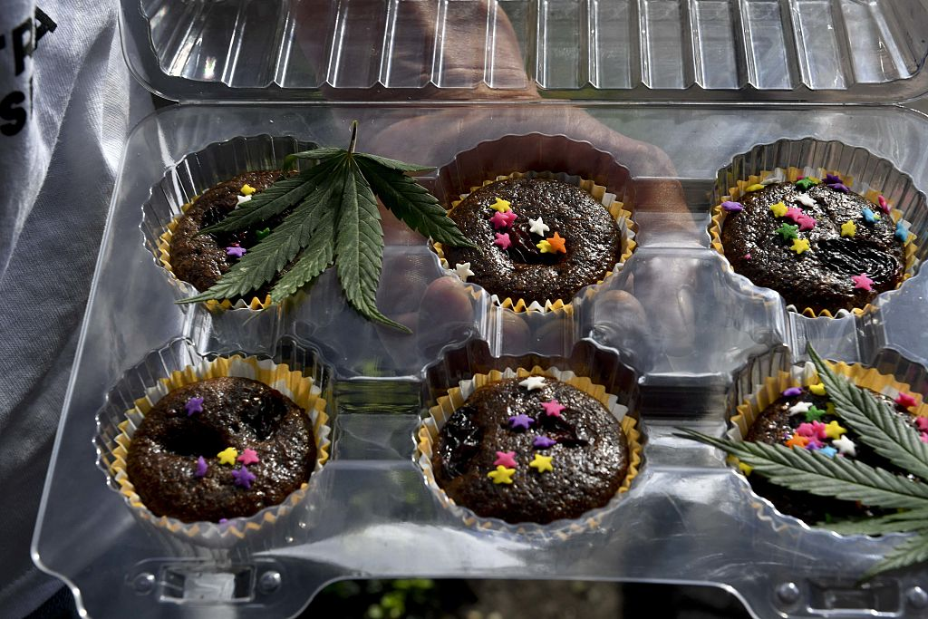Cannabis or marijuana cupcakes