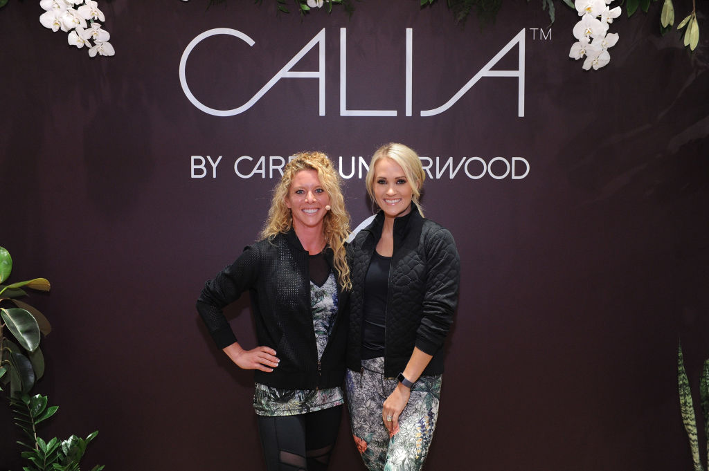 CALIA lead designer, Carrie Underwood and her road trainer