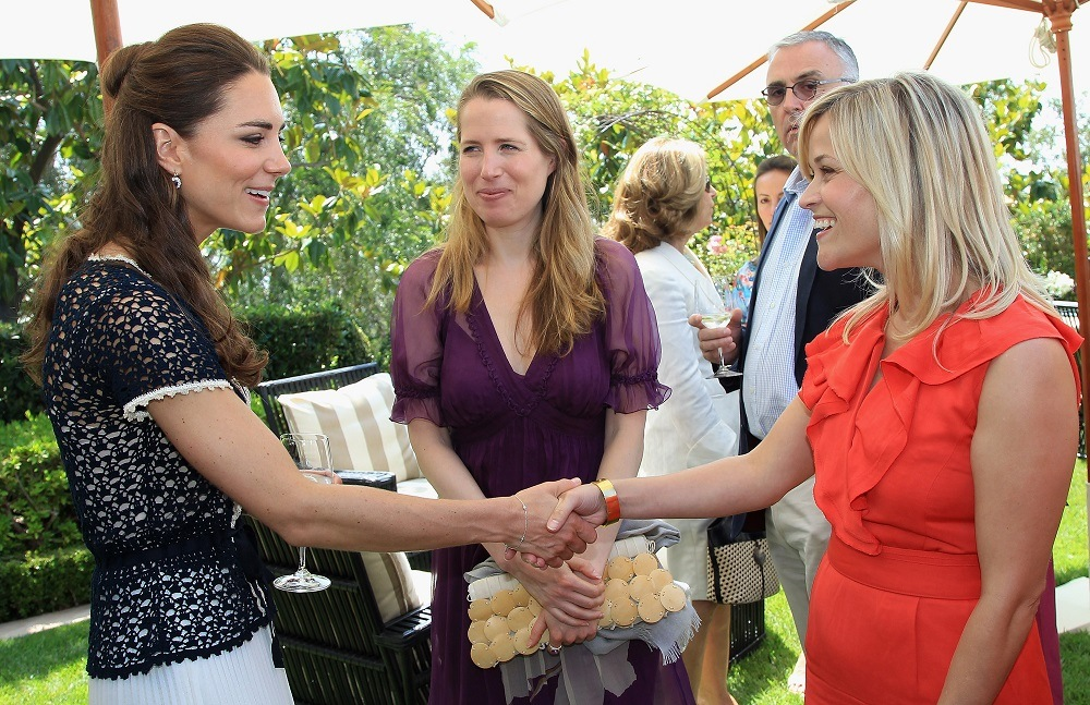 Catherine, Duchess of Cambridge meets actress Reese Witherspoon