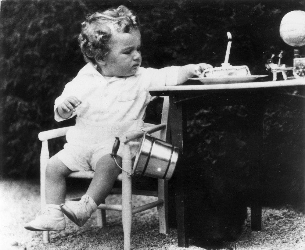 Charles Augustus Lindbergh Jr., son of the American aviator