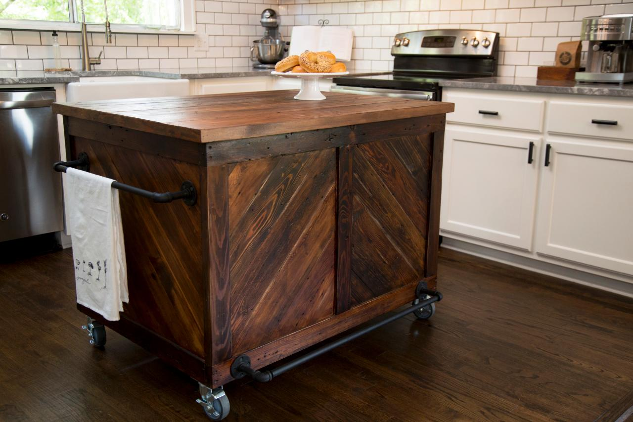 Chevron Kitchen island Fixer upper