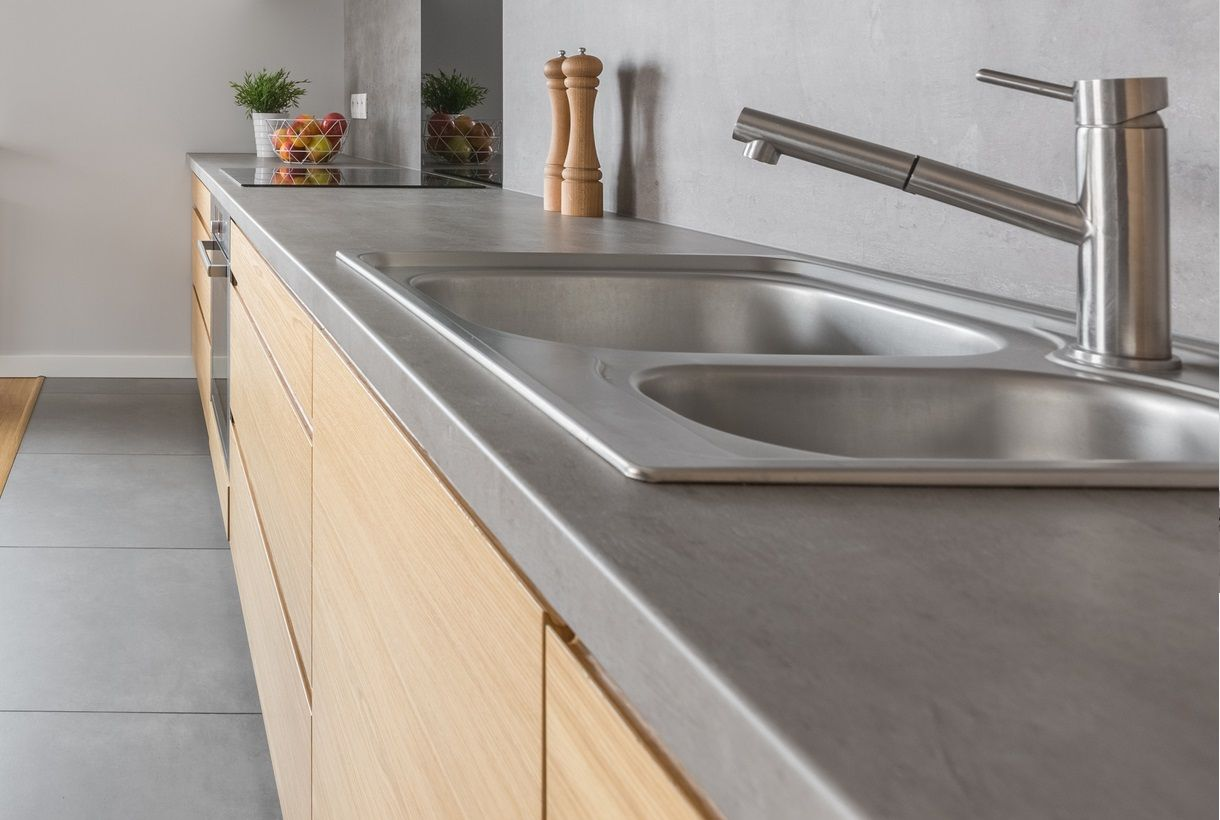 Kitchen concrete counter