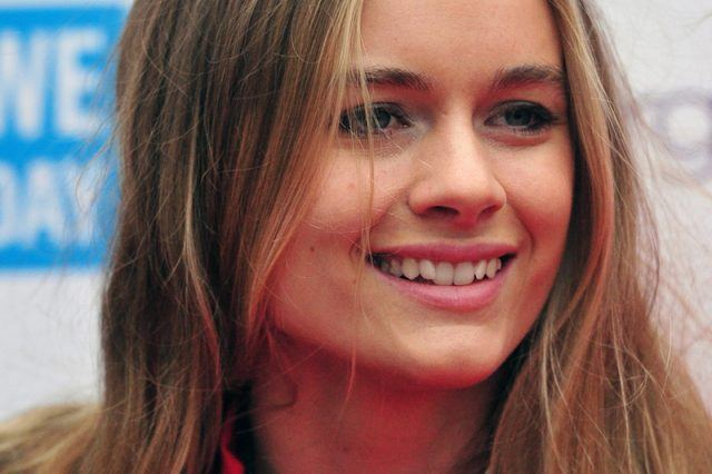 A close up of Cressida Bonas smiling.