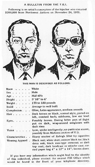 DB Cooper Wanted Poster