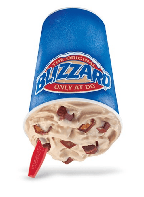 A Dairy Queen blizzard on a white background.
