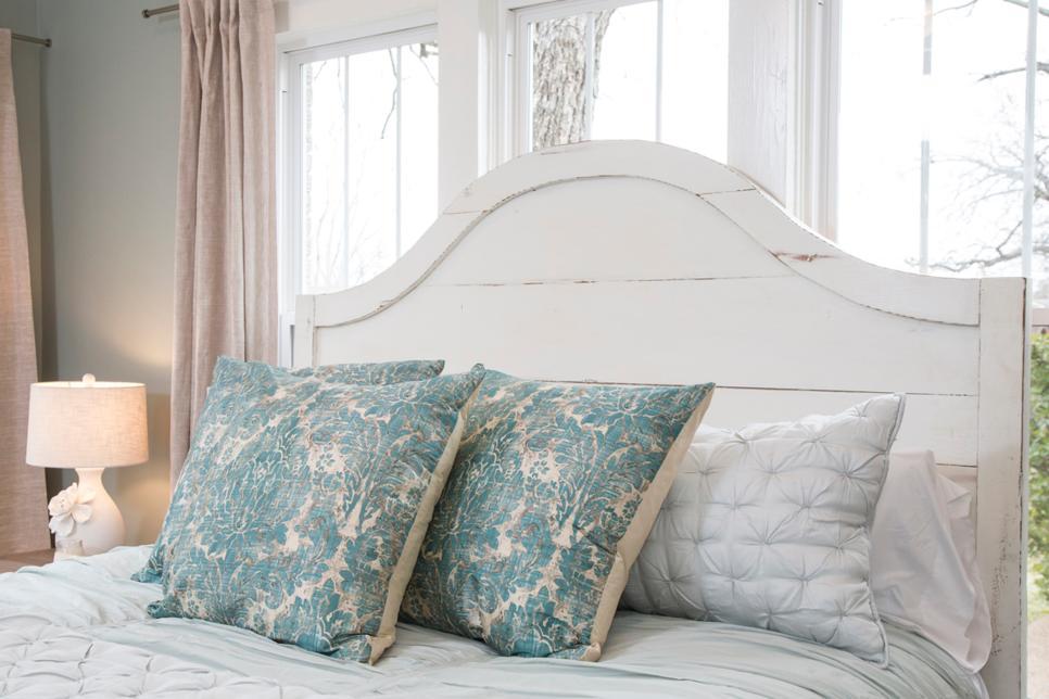 Damask pillows fixer upper