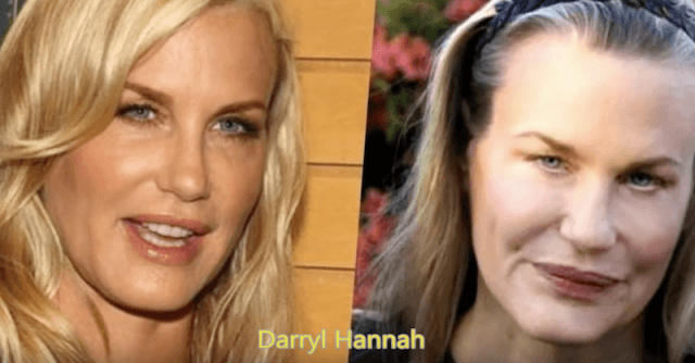 Darryl Hannah before and after.