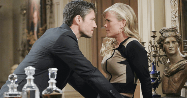 A scene between two passionate characters in 'Days of Our Lives'.