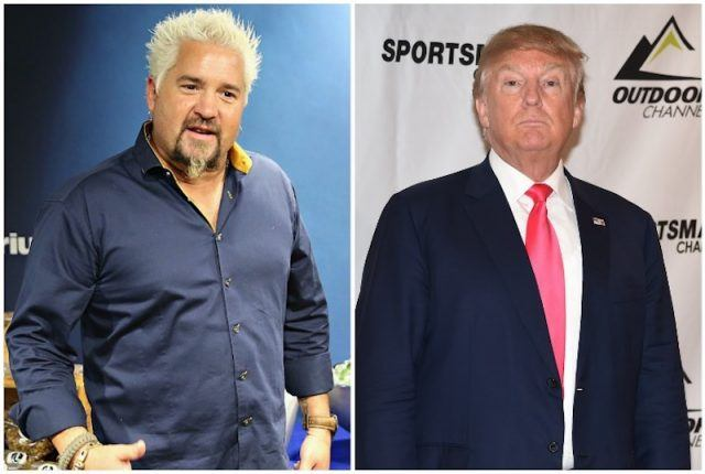 Collage of Donald Trump and Guy Fieri.
