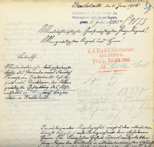 Documents from Germany records.