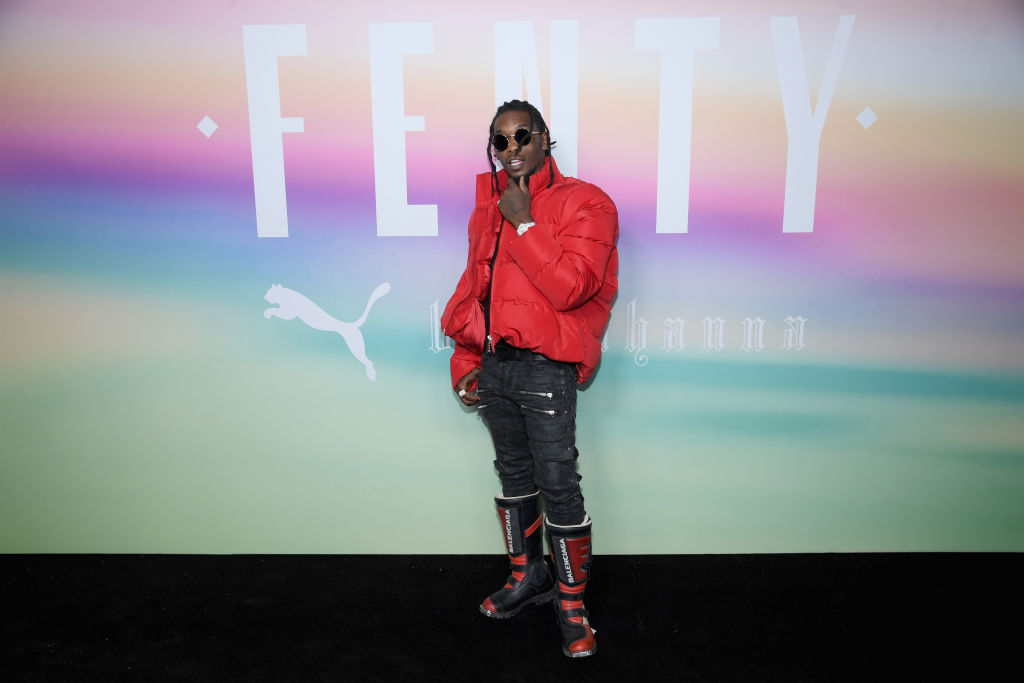 Rapper Offset of Migos attends the FENTY PUMA by Rihanna Spring/Summer 2018 Collection